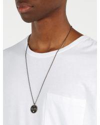 Valentino - Black Collier à pendentif en laiton Vltn for Men - Lyst