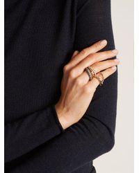 Spinelli Kilcollin - Metallic Nexus Diamond, Silver & Gold Ring - Lyst