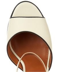 Valentino White Baracoa Wicker Platform Sandals