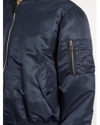 J.W. Anderson Blue Taffeta Bomber Jacket for men