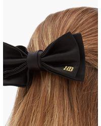 Hillier Bartley Multicolor Logo-embroidered Satin Bow Hair Clip