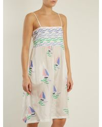 Thierry Colson Green Rock The Boat Silk Dress