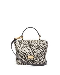 Wandler Multicolor Luna Mini Dalmatian-print Calf-hair Cross-body Bag