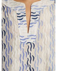 Thierry Colson Blue Rock The Boat Printed Dress
