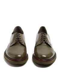 Clergerie Multicolor Jonko Lace-up Leather Derby Shoes for men