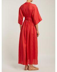 Robe en lin à ceinture Ferrers Three Graces London en coloris Red