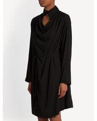 Vivienne Westwood Anglomania Black Tondo Cowl-neck Draped Dress