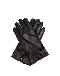 Valentino - Black Rockstud Leather Gloves - Lyst