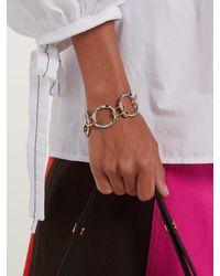 Marni - Metallic Crystal-embellished Chain-link Bracelet - Lyst