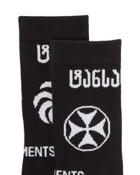 Chaussettes en coton à logos intarsia X Reebok Vetements pour homme en coloris Black
