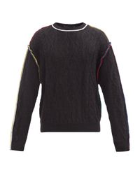 Y. Project Black Overlocked Cable-knit Mohair-blend Sweater for men