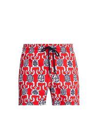 Vilebrequin Red Moorise Swim Trunks for men