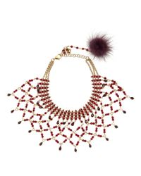 Rosantica By Michela Panero - Red Rete Bead-embellished Necklace - Lyst