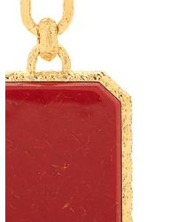 Balenciaga - Red Marble-effect Gold-plated Clip-on Earrings - Lyst