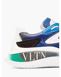 メンズ Valentino Garavani Valentino Garavani ウェイドランナー レザースニーカー Blue