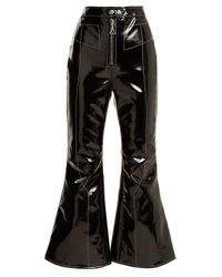 Ellery - Black Sipsi Kick-flare Cropped Patent Trousers - Lyst