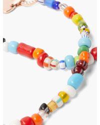 Diane Kordas ダイヤモンド 14kローズゴールドビーズペンダントネックレス Multicolor