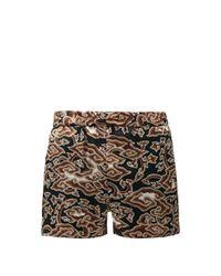 メンズ Edward Crutchley クラウド シルクサテン ショートパンツ Multicolor