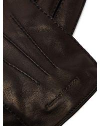 Gants en cuir doublés de cachemire Alexander McQueen pour homme en coloris Black