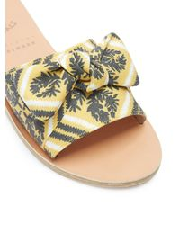 Ancient Greek Sandals - Multicolor Taygete Bow Twill Sandals - Lyst