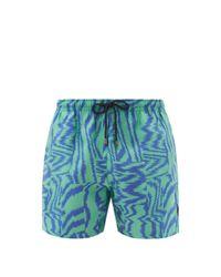 Missoni Blue Jacquard Swim Shorts for men