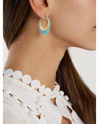 Irene Neuwirth - Multicolor 18kt Gold & Kingman Turquoise Earrings - Lyst