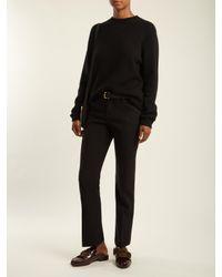 Chloé | Black Straight-leg Stretch-wool Trousers | Lyst