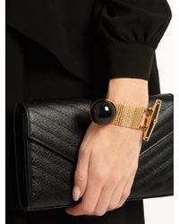 Balenciaga - Multicolor Watch-strap Stone Bracelet - Lyst
