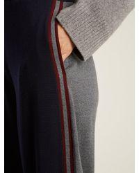 Stella McCartney - Multicolor Contrast-panel Wool Track Pants - Lyst