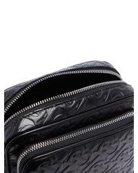 Sac bandoulière en cuir à logo embossé Burberry pour homme en coloris Black