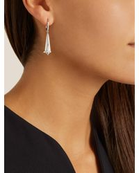 Susan Foster - Diamond & White-gold Earrings - Lyst