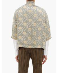 Haider Ackermann Multicolor Geometric-jacquard Linen-blend Shirt for men