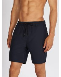 Saturdays NYC Blue Timothy Swim Shorts for men