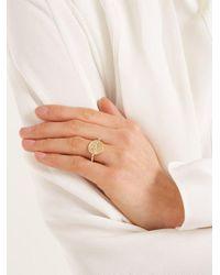 Azlee Metallic - Animal Kingdom Diamond & Yellow Gold Ring - Womens - Gold