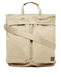 メンズ Porter ウェポン 2way キャンバストートバッグ Natural