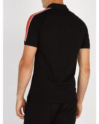 Givenchy Black Cuban Fit Half Zip Cotton Piqué Polo Shirt for men