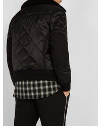 Givenchy Black Quilted Shearling-collar Bomber Jacket for men