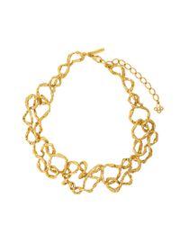 Oscar de la Renta   Metallic Entangled Chain Necklace   Lyst