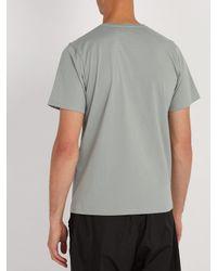 Saturdays NYC - Blue Logo Print Cotton Jersey T Shirt for Men - Lyst