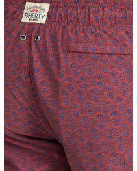 Faherty Brand - Red Beacon -print Swim Shorts for Men - Lyst