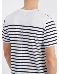 Rag & Bone - White Henry Striped Cotton T-shirt for Men - Lyst