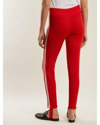 Étoile Isabel Marant Red Doriann Stripe-trimmed Track Pants