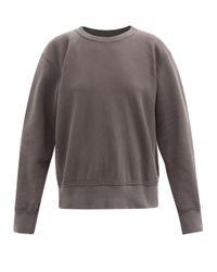 Les Tien ブラッシュドバックコットン スウェットシャツ Multicolor