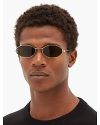 Alexander McQueen Metallic Octagonal Metal Sunglasses for men