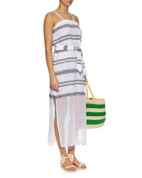Lemlem - Blue Addis Multi-stripe Cover-up - Lyst