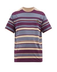 Wooyoungmi Multicolor Logo-print Striped Cotton T-shirt for men
