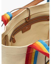 Cabas en toile à finitions rayées Pont small Anya Hindmarch en coloris Multicolor
