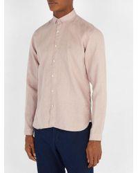 Oliver Spencer - Pink Tab-collar Linen Shirt for Men - Lyst