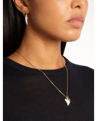 Theodora Warre Metallic Apatite, Shark's-tooth And Gold-plated Necklace