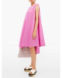 Robe plissée à dos noué Petal Pleats Please Issey Miyake en coloris Pink